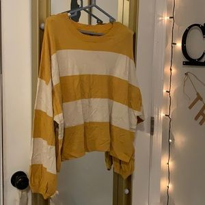 Aerie cropped striped sweater